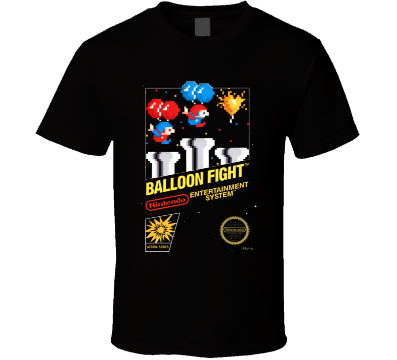 Ballon Fight Nes Classic Black Box Video Game T Shirt