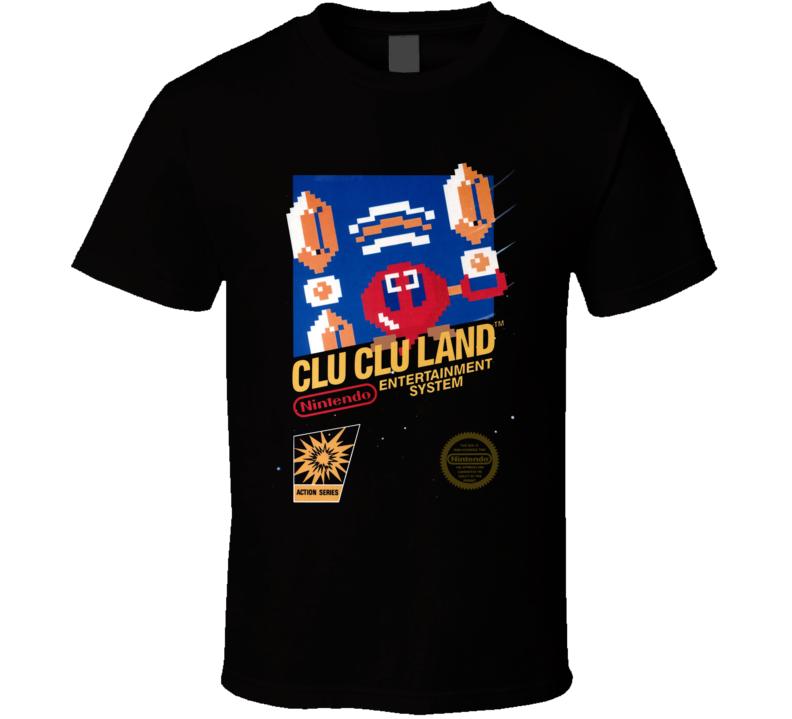 Clu Clu Land Nes Classic Black Box Video Game T Shirt