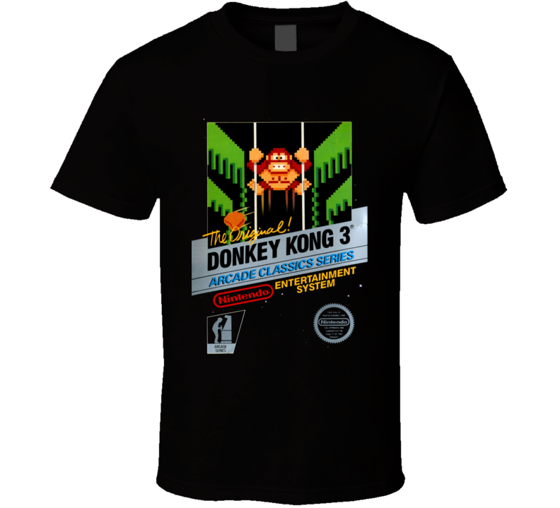 Donkey Kong 3 Nes Classic Black Box Video Game T Shirt