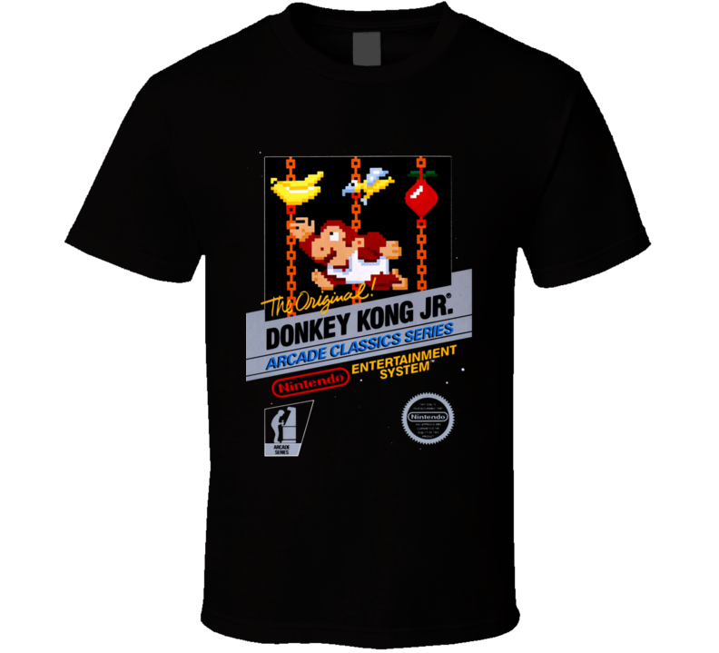 Donkey Kong Jr. Nes Classic Black Box Video Game T Shirt