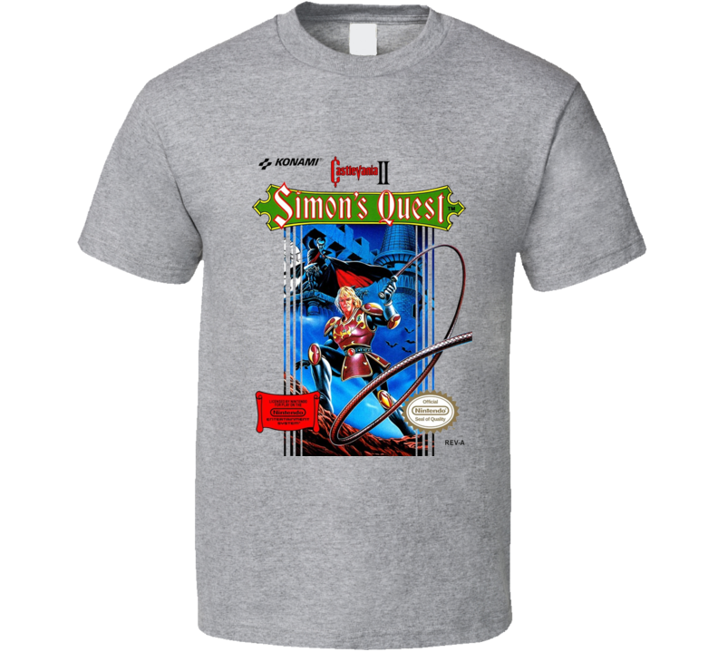 Castlevania 2 Simon's Quest Nes Box Art T Shirt