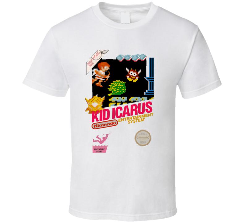 Kid Icarus Retro Box Art Video Game T Shirt - White