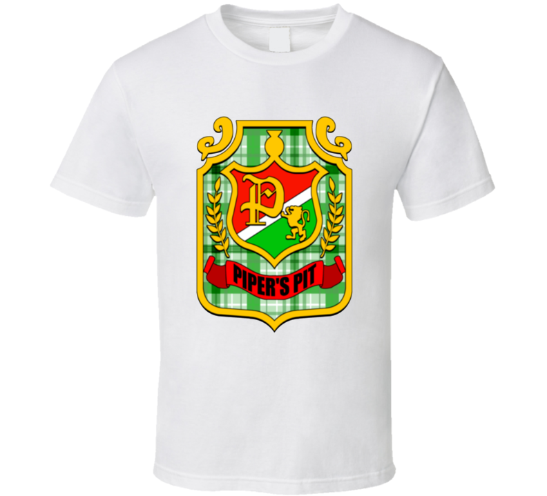 Rowdy Roddy Piper Piper's Pit Logo Wrestling White T Shirt