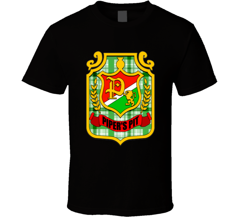 Rowdy Roddy Piper Piper's Pit Logo Wrestling T Shirt