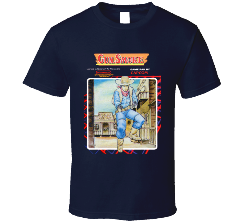 Gun Smoke Nes Retro Video Game T Shirt