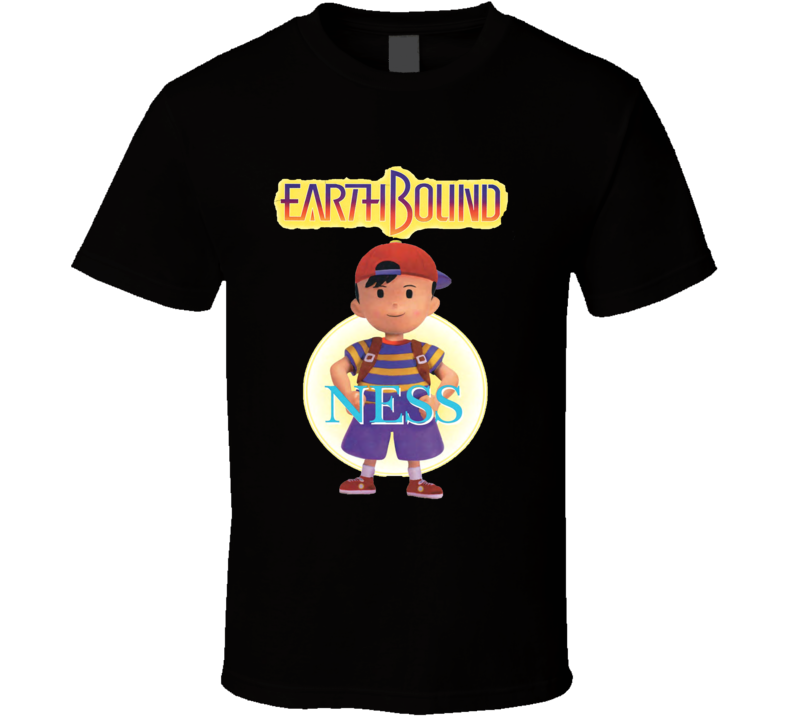 Earthbound Ness Retro Snes Video Game T Shirt
