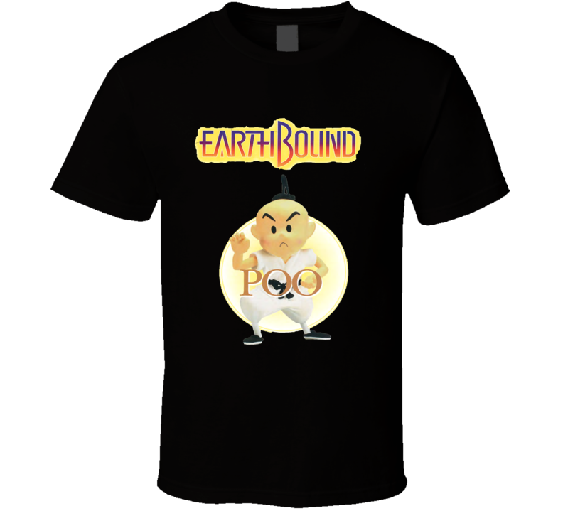 Earthbound Poo Retro Snes Video Game T Shirt