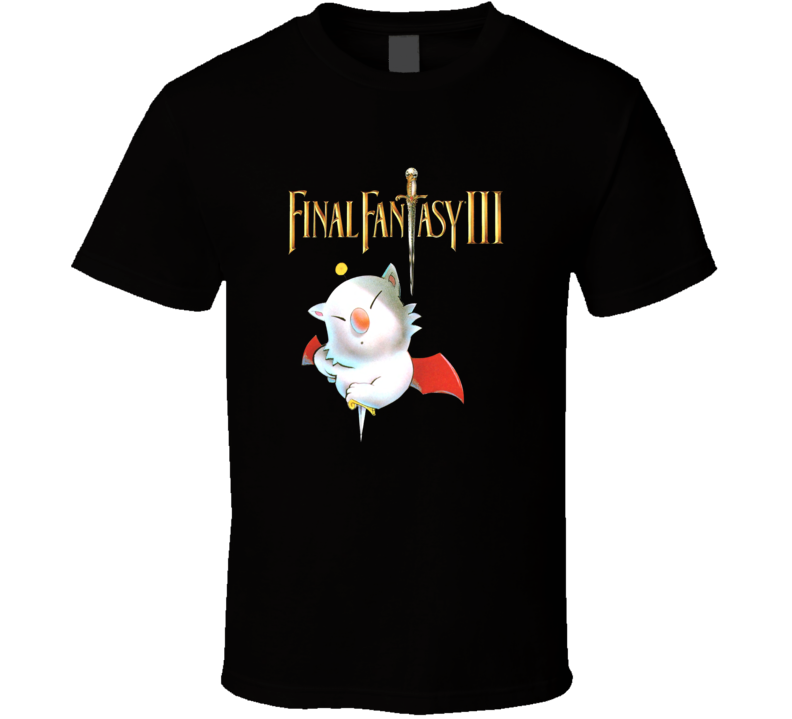 Final Fantasy 3 Retro Video Game T Shirt