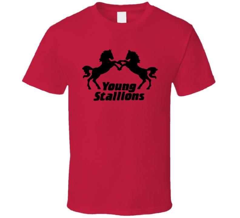 Young Stallions Retro Tag Team Wrestling T Shirt