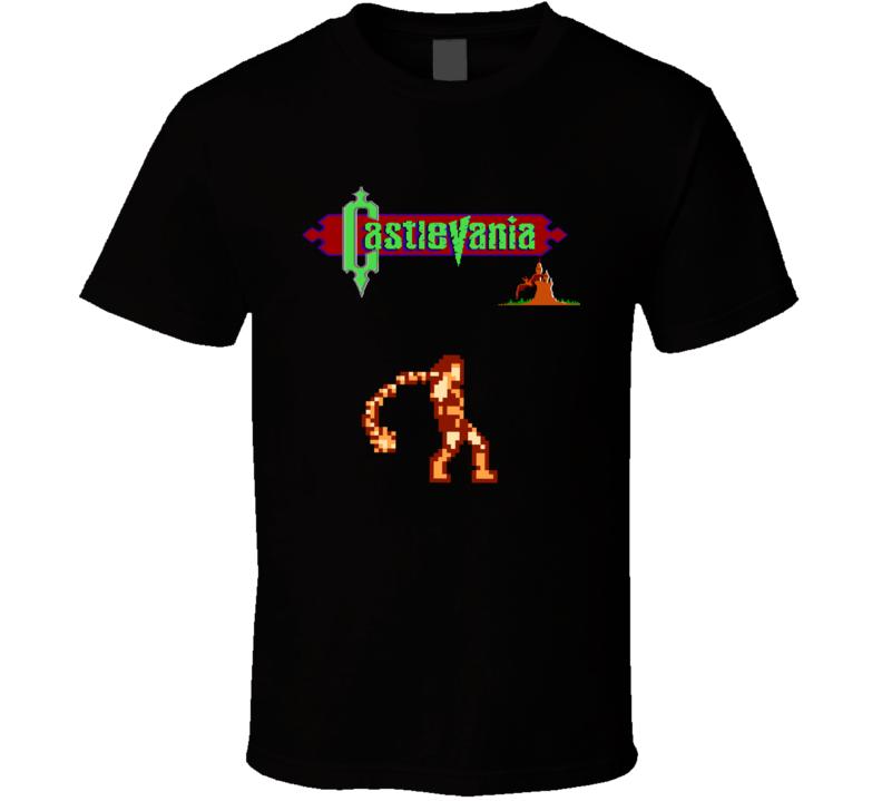 Castlevania Simon Belmont Retro Video Game T Shirt