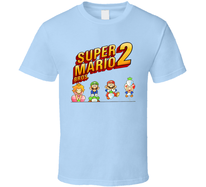 Super Mario Bros. 2 Video Game Retro Characters T Shirt