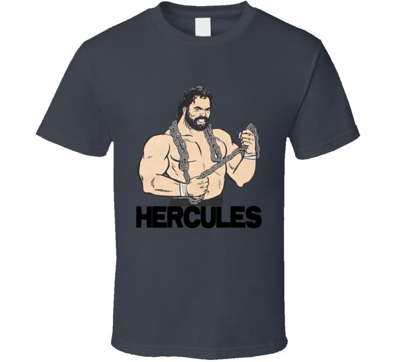 Hercules Wwf 80's Retro Wrestling T Shirt