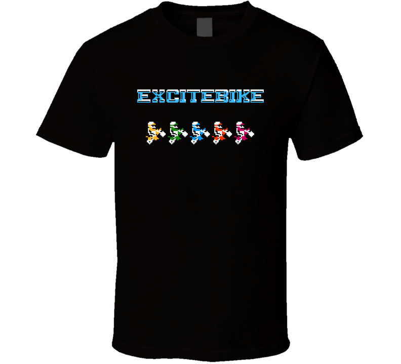 Excitebike Retro Nes Classic Video Game T Shirt