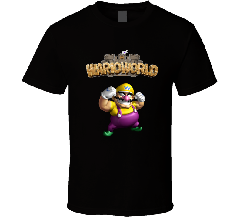 Warioworld Super Mario Wario Video Game T Shirt