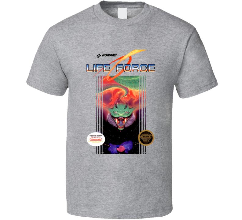 Life Force Nes Box Art Video Game T Shirt