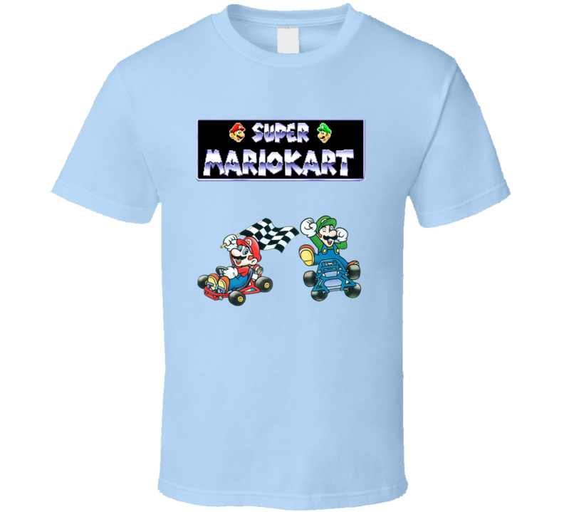 Super Mariokart Snes Retro Video Game T Shirt