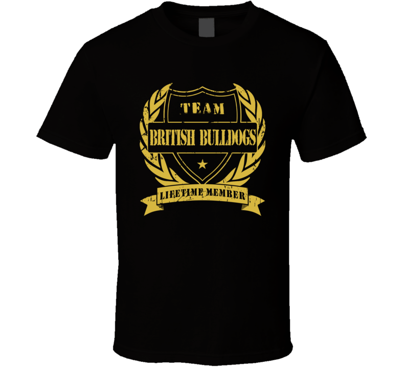 The British Bulldogs Team Lifetime Member Wrestling T Shirt