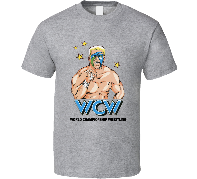 Wcw Sting Retro Wrestling Legend Grey T Shirt