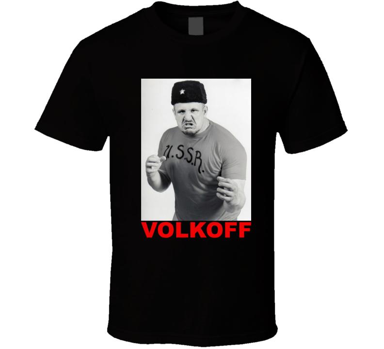 Nikolai Volkoff Retro Wrestling Ussr T Shirt