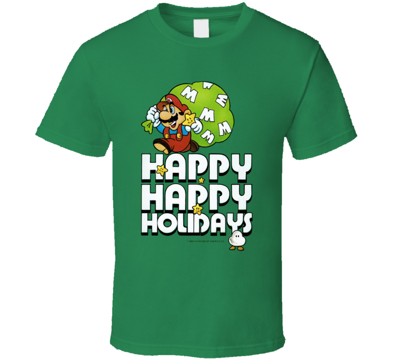 Super Mario Holiday Christmas Essential Video Game Fan T Shirt