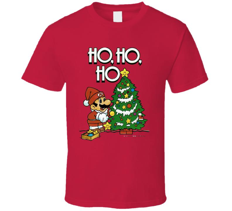 Super Mario Christmas Holiday Season Fun Cool T Shirt