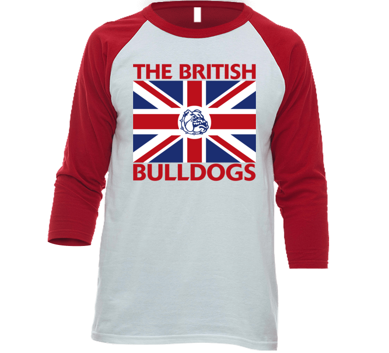 The British Bulldogs Retro Wrestling Baseball Raglan Shirt