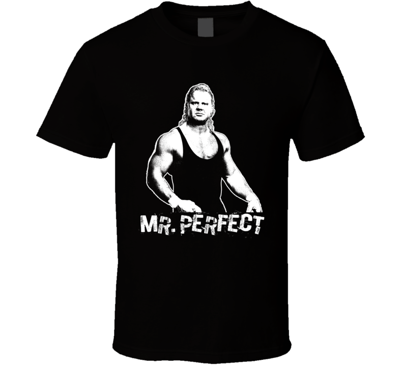 Mr Perfect Legends Of Wrestling Retro T Shirt