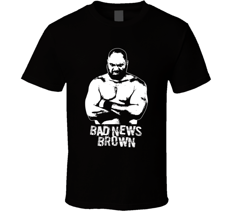 Bad News Brown Retro Legends Of Wrestling T Shirt