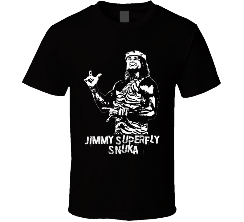 Jimmy Superfly Snuka Retro Legends Of Wrestling T Shirt