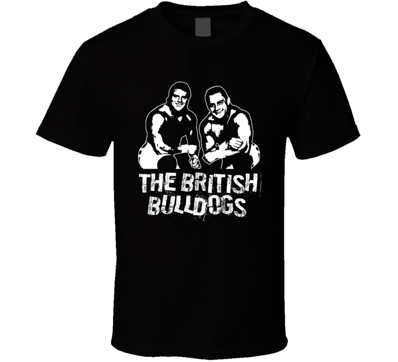 The British Bulldogs Tag Team Retro Legends Of Wrestling T Shirt