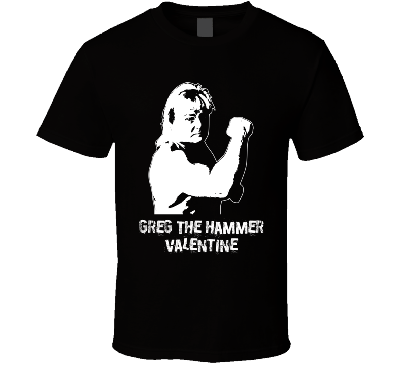 Greg The Hammer Valentine Retro Legends Of Wrestling T Shirt