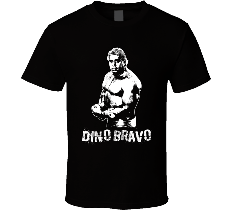 Dino Bravo Retro Legends Of Wrestling T Shirt