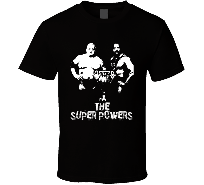 The Super Powers Dusty And Nikita Retro Legends Of Wrestling Tag Team T Shirt