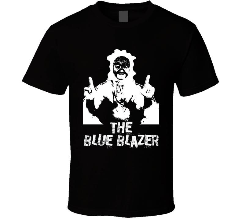 The Blue Blazer Retro Legends Of Wrestling T Shirt