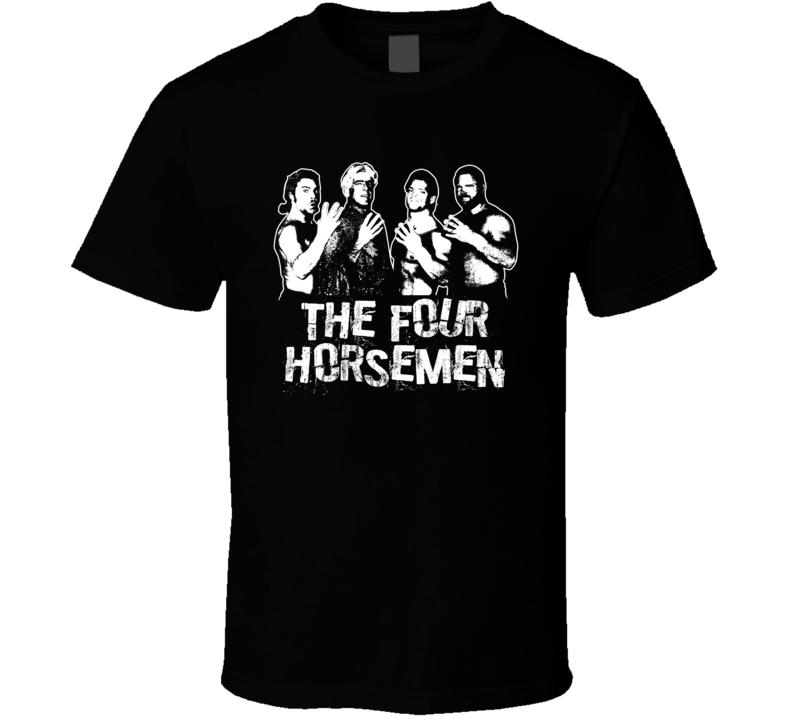 The Four Horsemen Retro Legends Of Wrestling T Shirt