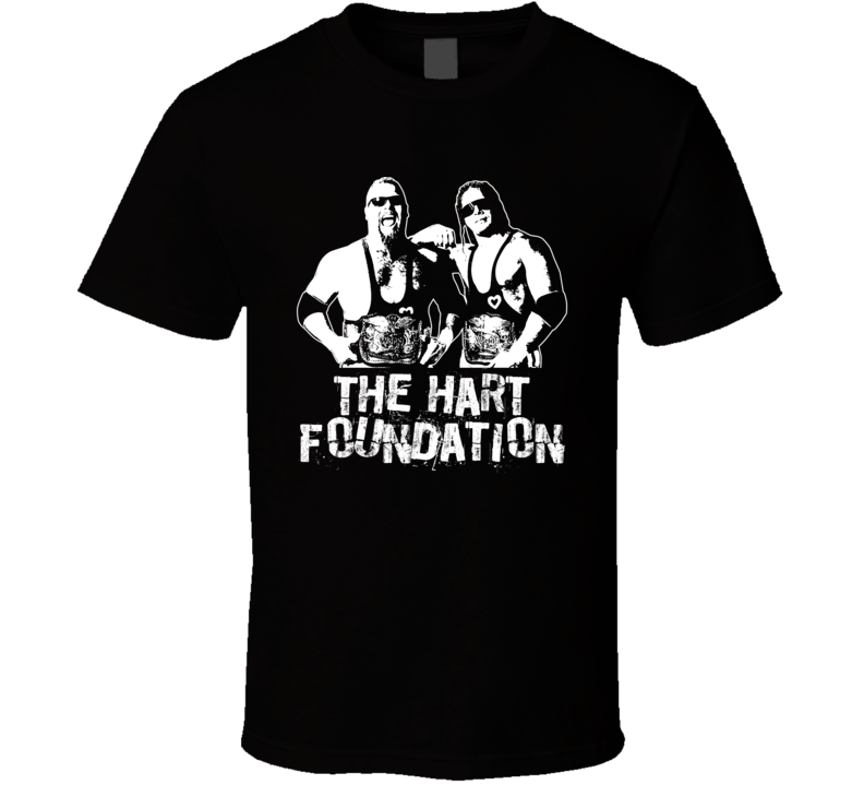 The Hart Foundation Retro Legends Of Wrestling Tag Team T Shirt