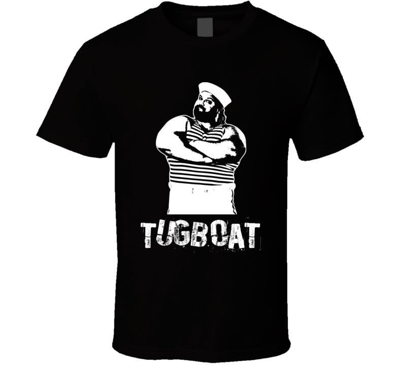 Tugboat Retro Legends Of Wrestling T Shirt