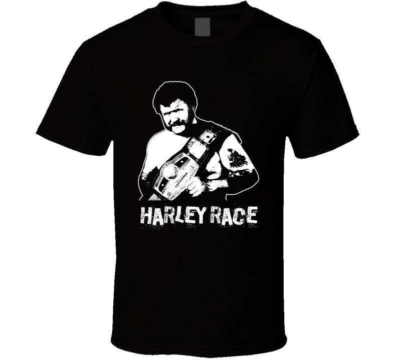 Harley Race Retro Legends Of Wrestling T Shirt