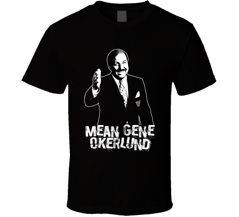 Mean Gene Okerlund Retro Legends Of Wrestling T Shirt