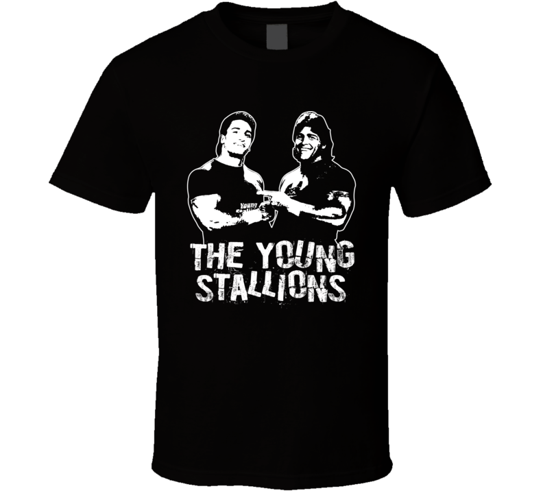 The Young Stallions Retro Legends Of Wrestling Tag Team T Shirt