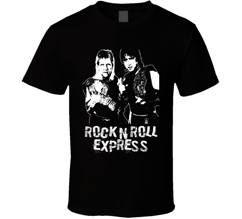 Rock N Roll Express Retro Legends Of Wrestling Tag Team T Shirt