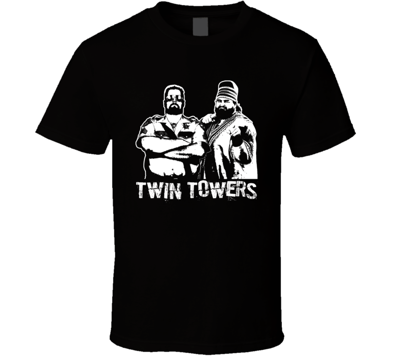 Twin Towers Akeem And Big Boss Man Retro Legends Of Wrestling T Shirt