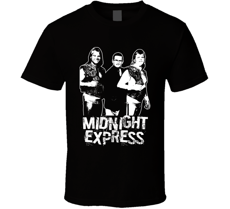 Midnight Express Retro Legends Of Wrestling Tag Team T Shirt