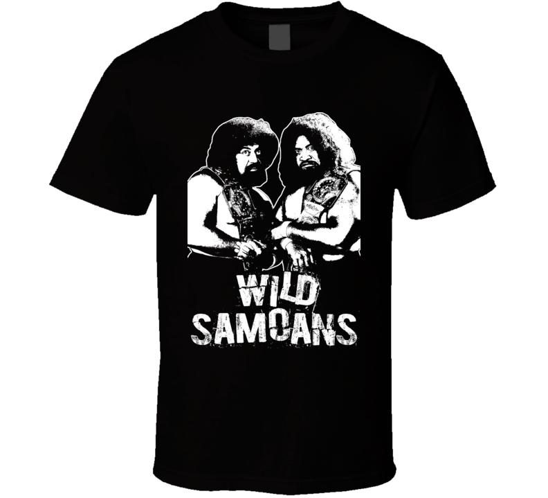 Wild Samoans Retro Legends Of Wrestling Tag Team T Shirt