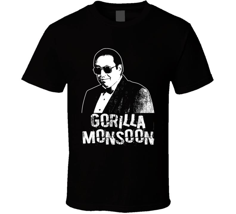 Gorilla Monsoon Retro Legends Of Wrestling T Shirt