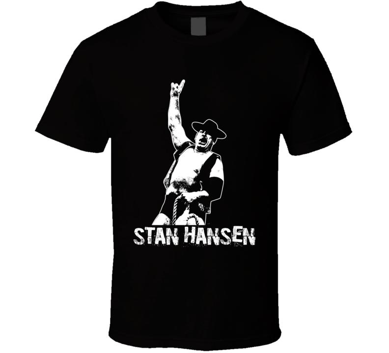 Stan Hansen Retro Legends Of Wrestling T Shirt