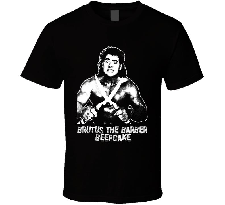 Brutus The Barber  Beefcake Retro Legends Of Wrestling T Shirt