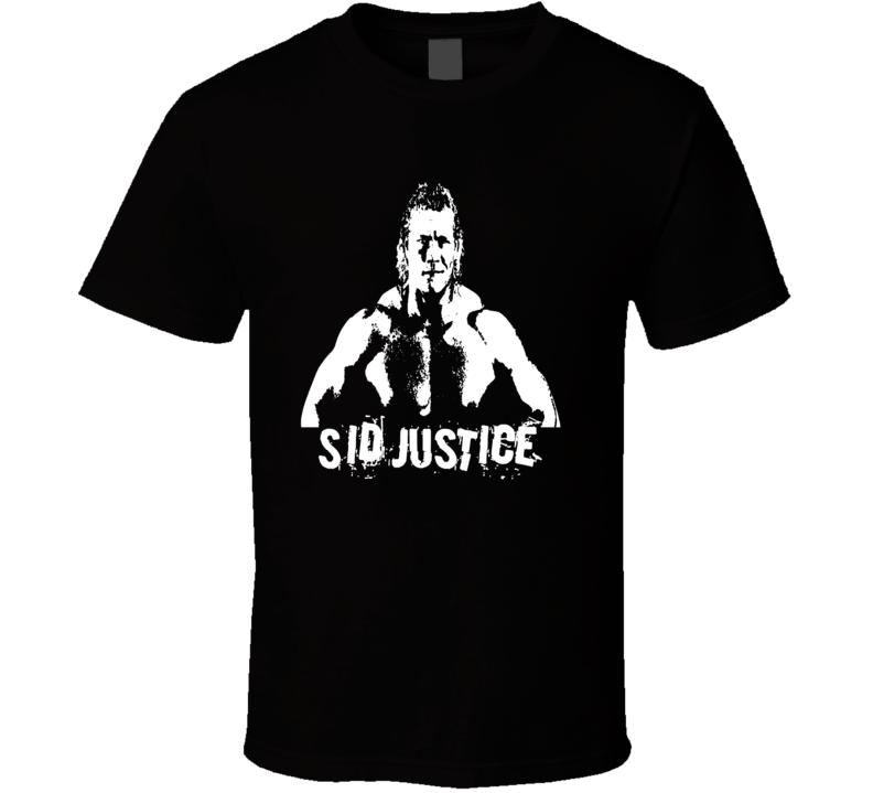 Sid Justice Psycho Sid Retro Wrestling Legend T Shirt