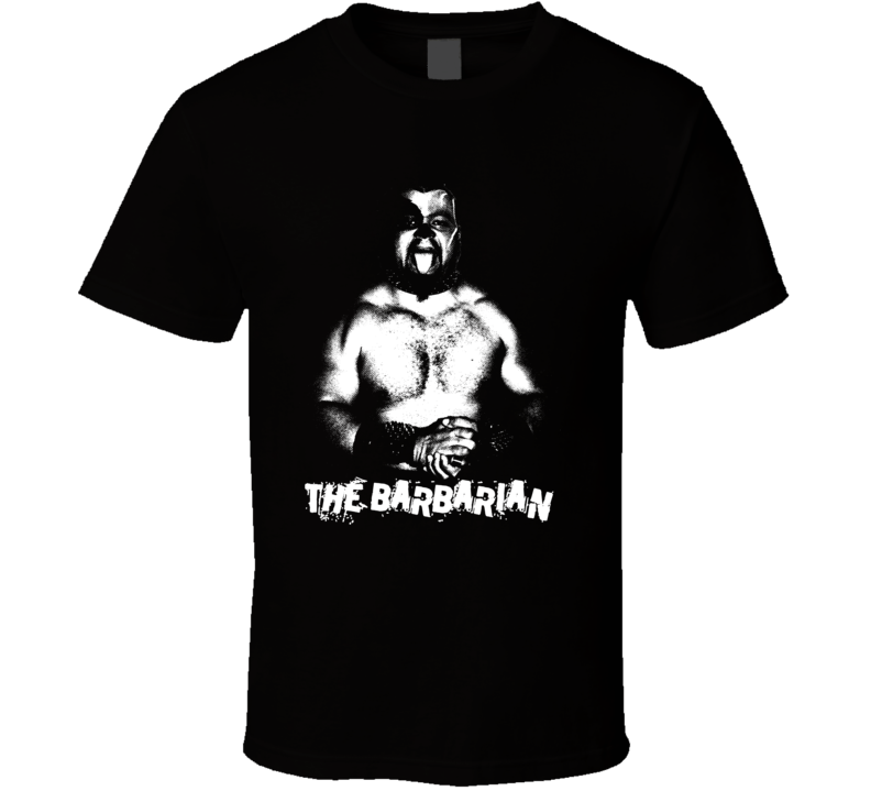 The Barbarian Retro Legends Of Wrestling T Shirt