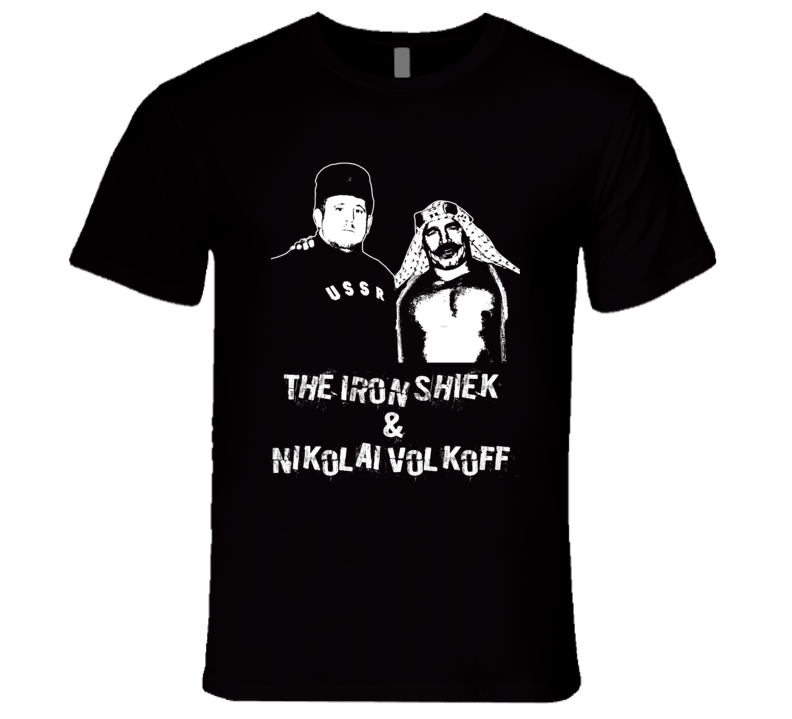 The Iron Shiek And Nikolai Volkoff Tag Team Retro Legends Of Wrestling T Shirt